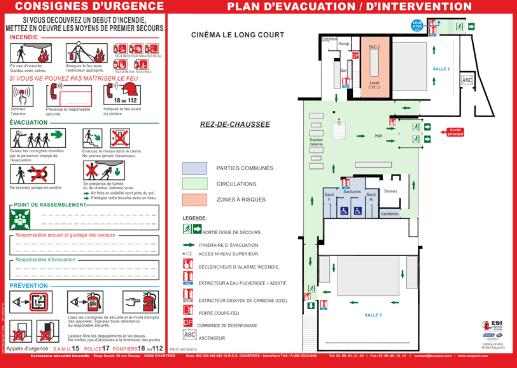 Plan d'évacuation et consignes de sécurité pour entreprise et Etablissement Recevant du Public (ERP)