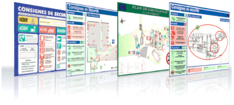 Plan et signalétique de sécurité pour entreprise et ERP
